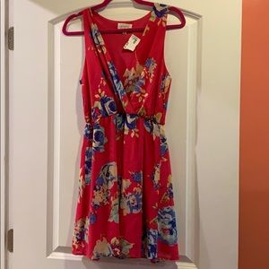 Pink Floral Dress NWT